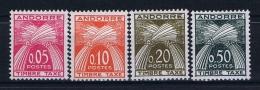 Andorre Fr. Mi Taxe 42 - 45  , MH/* - Strafport