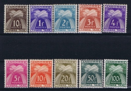 Andorre Fr. Mi Taxe 32 - 41  , MH/* - Portomarken