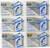 Lot 6 Télécartes Utilisées 600 Agences Différentes Brillantes Et Mates (lot 9) - Télécartes