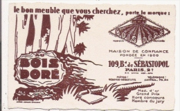 CARTE DE VISITE ANICENNE BOIS DORE 109 BD DE SEBASTOPOL PARIS (MEUBLES) - Visiting Cards