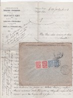 CAUCASE - 1912 - LETTRE Des MINES De CHAGALI-HELIAR (TIFLIS) Pour LA RICAMARIE (LOIRE) - 1857-1916 Imperium