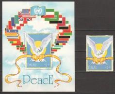 Palau 1991 Mi 473 + Block 10   MNH  PEACE BIRD - Palau