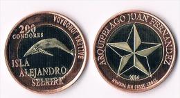 ISLA Alajandro Selkirk  200  Condores 2014 ( Bimetal) -whale - Autres – Amérique