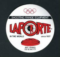 2 AUTOCOLLANTS : Ball Trap LAPORTE 100mm Olymp. - Stickers