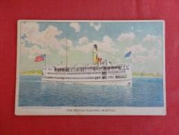 Boston Floating  Hospital  Not Mailed   Ref 1226 - Piroscafi
