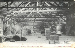 CHINA - DAIREN - DALIAN - IMPORT GOODS UNDOR CUSTODY IN A WAREHOUSE ON DAIREN WHARVES - JULY 1910 - Chine