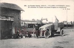 Aisne (02) Villers Cotterets - La Grande Guerre 1914-15 - En Attendant Les Taubes - Troupiers Au Chalet De La Mitraille - Villers Cotterets
