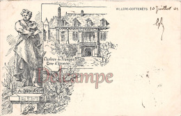 Aisne (02) Villers Cotterets - Gravure Illustration Signée Delinge - Alexandre Dumas & Chateau De François 1er - Villers Cotterets