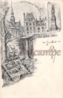 Aisne (02) Villers Cotterets - Gravure Illustration Signée Delinge - Alexandre Dumas & Eglise & Pavillon Henri I - Villers Cotterets