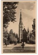 Eindhoven Real Photo Paters Kerk Church Bike Carte Postale Vintage Original Postcard Cpa Ak (W3_3007) - Eindhoven