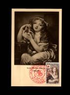 CROIX-ROUGE - Exposition Philatélique De La Croix-Rouge - 1954 - Greuze  - Colombe - Reproduction Peinture - Croix-Rouge