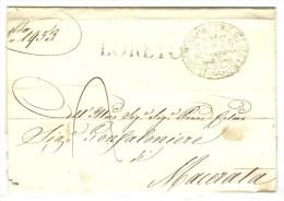 Italia. Prefilatelia. Carta Fechada En 1844 Con Marca LORETO - Italia