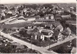 CPSM AUXONNE 21 GROUPE SCOLAIRE EN AVION AU DESSUS DE LAPIE 1969 - Auxonne