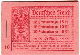 1919 - GERMANIA - CARNET MiNr 12 ** - COTE = 500 EUROS - Markenheftchen