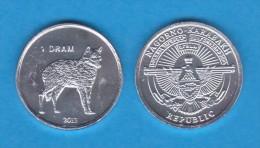 "NAGORNO  KARABAKH  1 DRAM 2.013  2013 ""LOBO-WOLF"" Aluminio/Aluminium   SC/UNC  T-DL-10.768 - Nagorno-Karabakh"