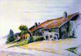 25  EPENOUSE Fromagerie Artisanale Liechti, La Maison Du Fromager Par Le Peintre Bracq - Altri Comuni