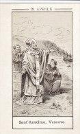 Sant'Anselmo Vescovo Di Cantorberì Con Preghiera Al Retro - Images Religieuses