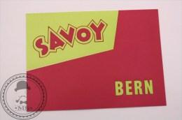 Hotel Savoy Bern, Switzerland - Original Vintage Luggage Hotel Label - Sticker - Hotel Labels