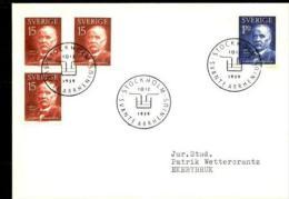 PRIX NOBEL PRIZE NOBELPREIS CHEMISTRY 1903 ARRHENIUS SWEDEN SUEDE SCHWEDEN 1959 FDC MI 453 454 - Nobelpreisträger
