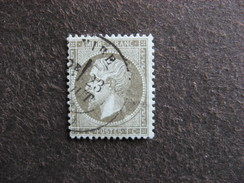 D). TB N°19a , Oblitéré. Cote = 50 Euros. - 1862 Napoleon III