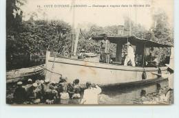 ABOISSO  - Chaloupe à Vapeur Dans La Rivière Bla. - Ivory Coast