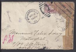 ETATS-UNIS - 1919 -  GEORGE WASHINGTON SUR LETTRE DE MILLEDGEVILLE POUR PARIS , AVEC CENSURE - - Etats-Unis