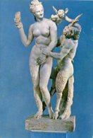 Grecia, Athens - Cartolina APHRODITE, PAN AND EROS (Nazional Museum) - G53 - Sculture