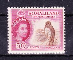 SOMALILAND  1953/8  , Queen E II Def´s Set   , Y&T  126  - 50 C  -  , Cv  4.00  E , * M V L H , V V F - Somaliland (Protettorato ...-1959)
