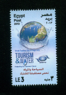 EGYPT / 2013 / UN / UNWTO / WORLD TOURISM DAY / TOURISM & WATER / THE NILE RIVER / BOATS / TREES / ENVIRONMENT / MNH  VF - Unused Stamps