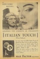 # MAX FACTOR ITALIAN TOUCH, ROUGE & MASKARA 1950s Advert Pubblicità Publicitè Reklame Lipstick Rossetto Lapiz Beautè - Perfume & Beauty