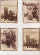 LOT DE 4 PHOTOS  CARTONNEES  FORMAT CARTE DE VISITE - Old (before 1900)