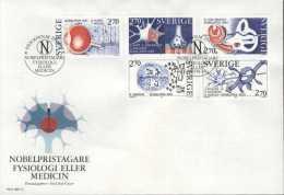 NOBELPREIS PRIX NOBEL PRIZE MEDICINE MEDIZIN MÉDECINE PHYSIOLOGY SWEDEN 1984 FDC  MI 1311 - 1315 MEDIZIN  MEDECINE - Nobelpreisträger