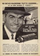 # PALMOLIVE SHAVING CREAM, ITALY 1950s Advert Pubblicità Publicitè Reklame Crema Barba Afeitar Creme Rasage Rasierschaum - Perfume & Beauty