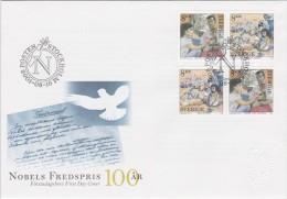 PRIX NOBEL PRIZE NOBELPREIS PEACE PAIX FRIEDEN - INTERNATIONAL DOCTORS -  RED CROSS - SWEDEN 2001 MI 2243 2244 FDC - Nobelpreisträger