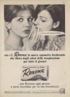 # REXONA SOAP, ITALY 1950s Advert Pubblicità Publicitè Reklame Sapone Savon Jabon Seife Beautè - Non Classificati