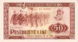 BILLETE DE ALBANIA DE 50 LEKE DEL AÑO 1964  (BANKNOTE)  RARO - Albanie