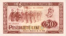BILLETE DE ALBANIA DE 50 LEKE DEL AÑO 1964  (BANKNOTE)  RARO - Albania