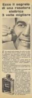 # LECTRIC SHAVE WILLIAMS ITALY 1950s Advert Pubblicità Publicitè Reklame Lotion Lozione BarbaRasage Afeitar Rasierwasser - Unclassified