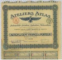 Ateliers Atlas, Automobile Aviation Industrie Motoculture - Aviation