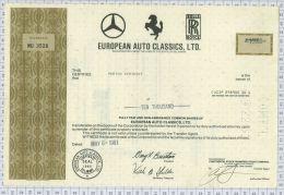 European Auto Classics Ltd, Mercedes Ferrari Et Rolls Royce - Cars