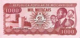 BILLETE DE MOZAMBIQUE DE 1000 METICAIS DEL AÑO 1989 (BANKNOTE) SIN CIRCULAR-UNCIRCULATED - Mozambique