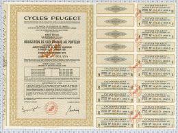 Cycles Peugeot, Annulé Au Verso - Deportes