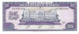 BILLETE DE HAITI DE 25 GOURDES DEL AÑO 1993   (BANK NOTE) SIN CIRCULAR-UNCIRCULATED - Haiti
