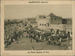 MAROC  MARRAKECH / La Place Djema El Fna / - Marrakesh
