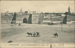 MAROC  MARRAKECH / Entrée De Bab-Doukkala Et La Ville / - Marrakech