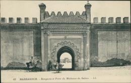 MAROC  MARRAKECH / Remparts Et Porte Du Méchouar Du Sultan / - Marrakech