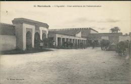 MAROC  MARRAKECH / L'Aguadal, Cour Extérieure De L'Administration / - Marrakesh