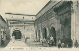 MAROC  MARRAKECH / Grande Fontaine El-Mouasine / - Marrakech