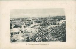 MAROC  MARRAKECH / Vue Générale De Marrakech / - Marrakech