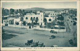 MAROC  MEKNES / Régie De Tabacs Et Avenue De La République / - Meknès